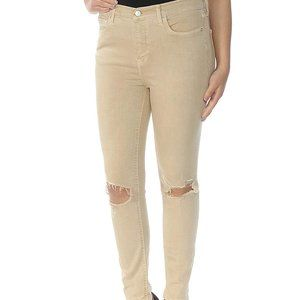 New Free People Tan Distressed Straight-le…